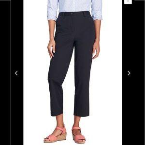 Lands End Black Size 12 Fit 3 7 Day Crop Pants